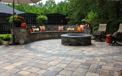 Retaining Wall & Paver Patio, Stone Patio, Landscaping